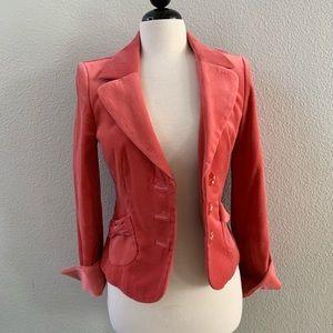 CLASSIQUES ENTIER bright pink velvet blazer M